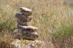 Piramide van stenen Royalty-vrije Stock Afbeeldingen