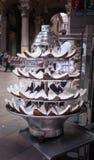 Piramide van stukken van kokosnoot royalty-vrije stock fotografie