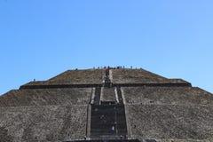 Piramide van Zon in Teotihuacan, Mexico-City royalty-vrije stock foto