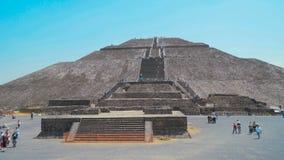 Piramide van zonnen Mexico-City Unesco-erfenis teotihuacan 4K stock video