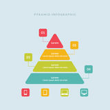 Piramide variopinta di Infographic illustrazione di stock