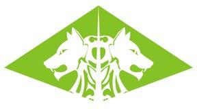 Piramide verde del lupo Immagini Stock Libere da Diritti