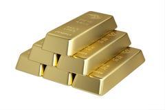 Piramide von den 1 KILO Stäben des feinen Goldes Lizenzfreie Stockfotos