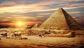 Piramide in Woestijn stock fotografie