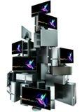 Piramide zoals reeks veelvoudige computers vector illustratie