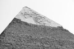 Piramide, zwart-wit Egypte Stock Fotografie
