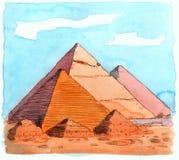 Piramides vector illustratie