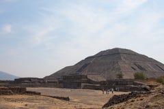 Piramides di Teotihuacan Fotografia Stock
