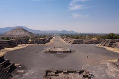 Piramides di Teotihuacan Immagine Stock