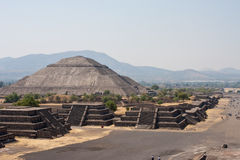 Piramides di Teotihuacan Fotografia Stock Libera da Diritti