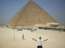 Piramides in Egypte royalty-vrije stock foto's