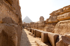 Piramides en Sfinx, Egypte Royalty-vrije Stock Afbeeldingen