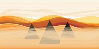 Piramides en zand Royalty-vrije Stock Afbeelding