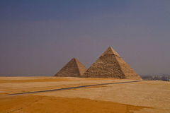 Piramides in Kaïro Royalty-vrije Stock Afbeelding