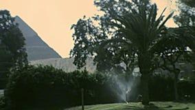 Piramides in Marriott Mena House in Kaïro stock video