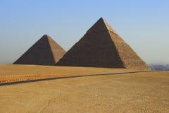 Piramides van Egypte Stock Foto