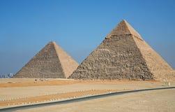 Piramides van Giza Royalty-vrije Stock Foto