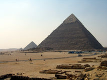 Piramides van Giza Royalty-vrije Stock Afbeeldingen