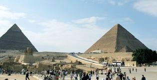 Piramides van Giza. Stock Afbeeldingen