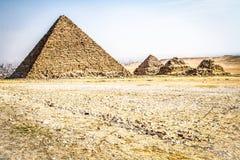 Piramides van Giza, Egypte stock foto's