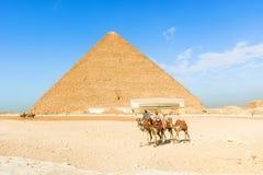 Piramides van Giza, Kaïro, Egypte Stock Afbeelding