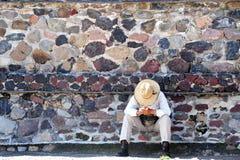 Piramides van Teotihuacan stock foto's