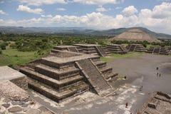 Piramides van Teotihuacan royalty-vrije stock foto