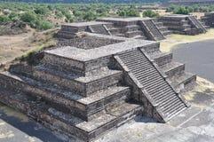 Piramides van Teotihuacan, Mexico Stock Fotografie