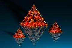 piramidi 3d illustrazione di stock