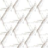 Piramidi beige di lerciume su un fondo bianco Fotografie Stock
