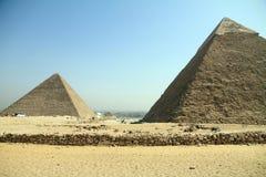 Piramidi del EL Cairo Egitto di Giza Fotografia Stock Libera da Diritti
