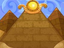 Piramidi del fondo Fotografie Stock