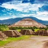 Piramidi del Messico fotografia stock