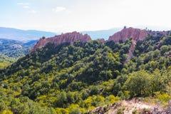 Piramidi delle montagne della Bulgaria Immagine Stock Libera da Diritti