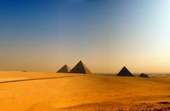 Piramidi di giza 08 Fotografie Stock