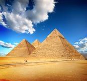 Piramidi di Giza Fotografia Stock Libera da Diritti
