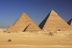 Piramidi di Giza, Il Cairo Immagine Stock