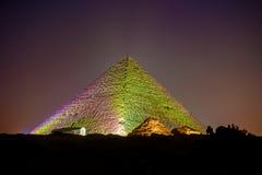 Piramidi di Giza a Il Cairo Immagini Stock Libere da Diritti