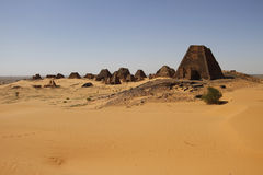 Piramidi di Kushite di Meroe fotografia stock