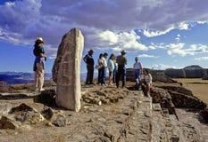Piramidi di Monte Alban immagini stock