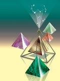 Piramidi di pietra Immagini Stock