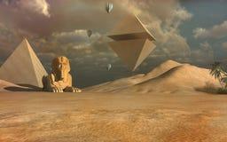 Piramidi di volo Fotografie Stock