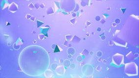 Piramidi e palle trasparenti nell'aria Immagine Stock