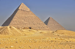Piramidi egiziane Immagine Stock Libera da Diritti