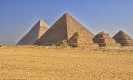 Piramidi egiziane Immagine Stock