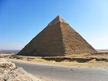 Piramidi egiziane di Giza Immagini Stock