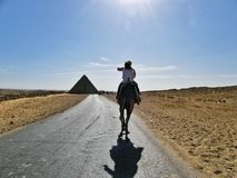 Piramidi egiziane di Giza Immagine Stock