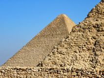 Piramidi egiziane di Giza Immagine Stock Libera da Diritti