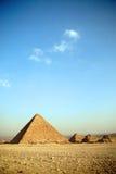Piramidi a Giza Immagine Stock