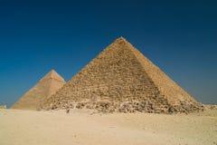 Piramidi a Giza Immagini Stock
